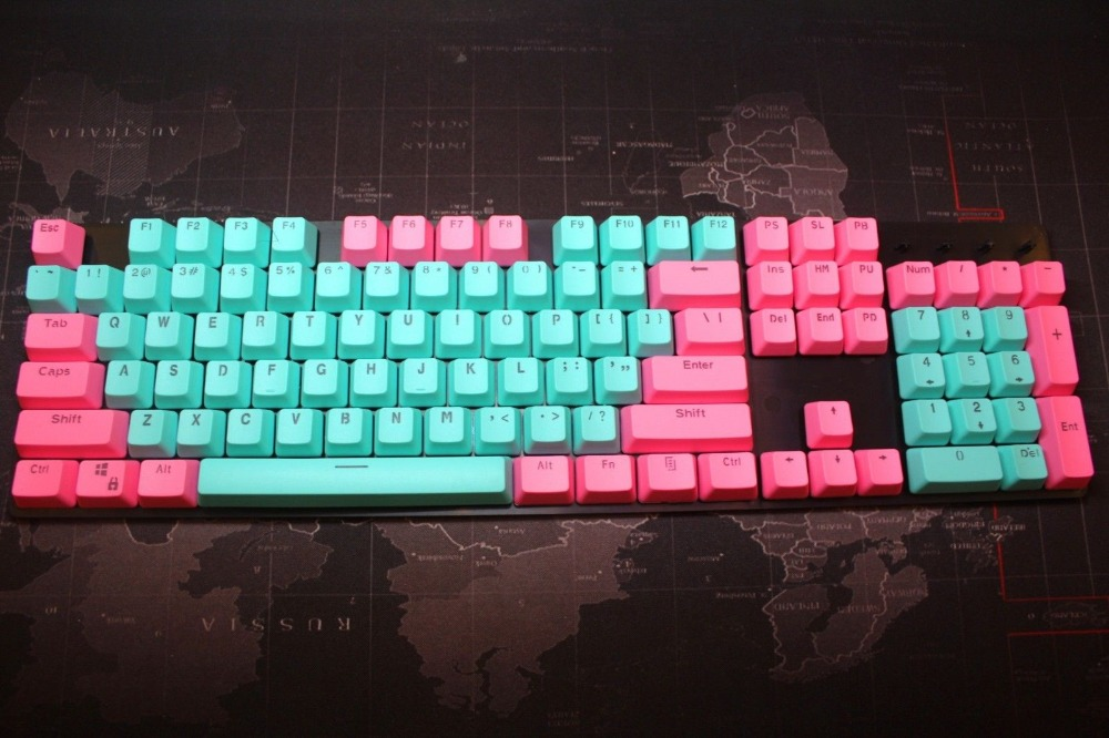 104 клавиш, клавиши с подсветкой, подсветка, клавиши, крышки, ANSI макет, OEM профиль для Cherry MX, механическая клавиатура