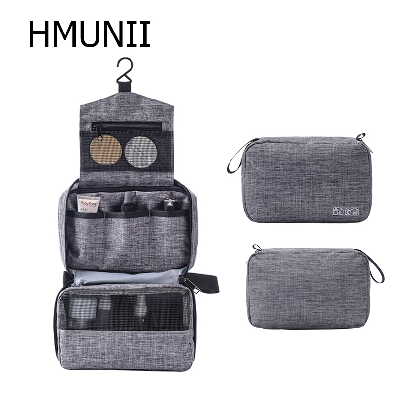 HMUNII Travel Toiletry Bag Business Toiletries Bag For Men Shaving Kit Waterproof Compact Hanging For Women Travel Accessories