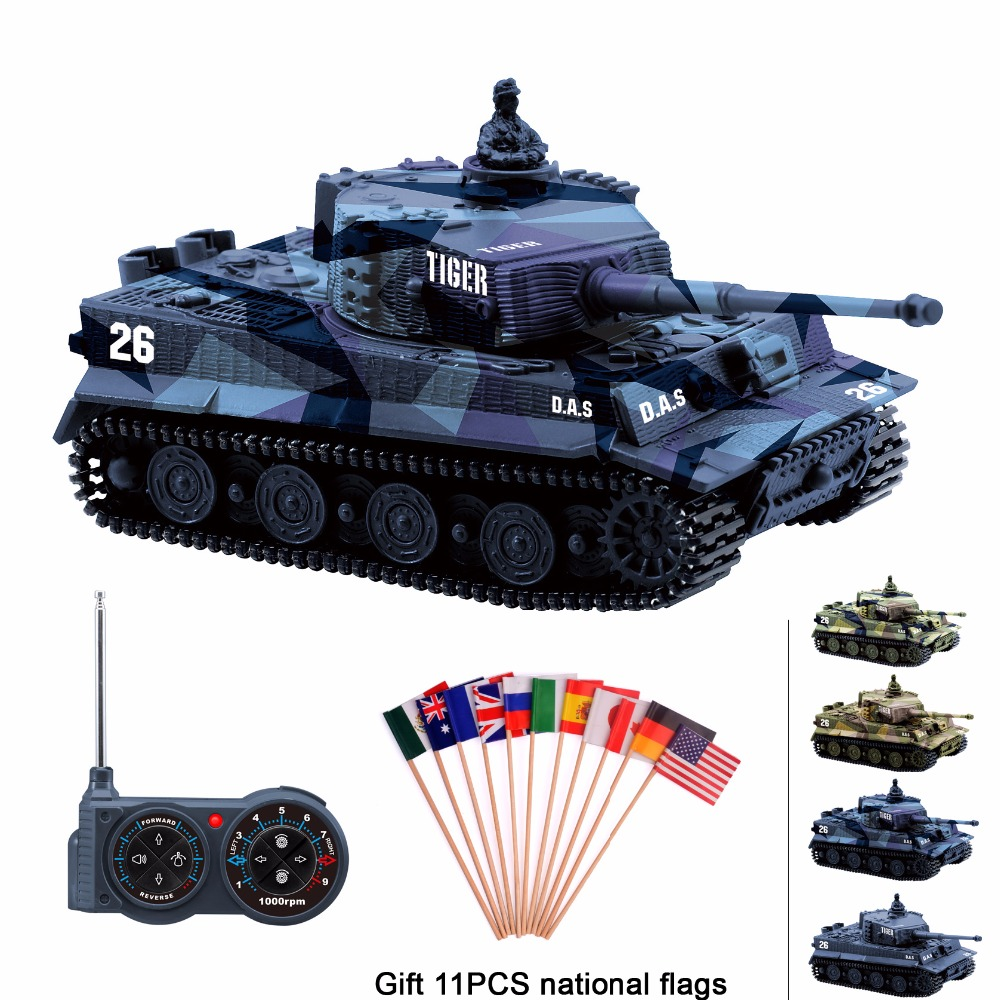Meilleur achat ) }}RC tank Germany Tiger I Colorful 1:72