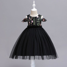 цены 2019 Girls Summer Dress Princess Party Kids Embroidery Dresses Toddler Girls Carnival Costume Kids Clothes Wedding 2-12 Years