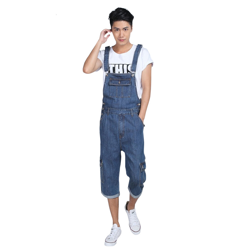 Size S-5XL Denim Overalls for Men Summer Mens Bib Coveralls with Suspenders Casual Jeans Jumpsuit Pockets free shipping denim overalls men 2016 new brand fashion mens bib denim shorts bib jeans fast delivery size s m l xl xxl 3xl 4xl