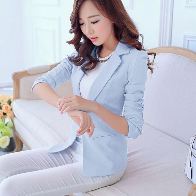 Heißer Verkauf frauen Jacke Anzug Blazer Frühling Herbst Blaser Weibliche Damen Büro Arbeit Single Button Solide Rosa Femme vadim