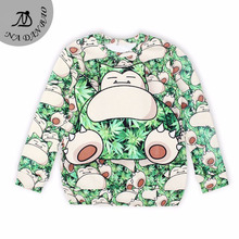 New Arrival Spring women sweatshirt 3D Pocket Monster printed hoodies