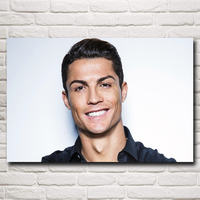 Cristiano Ronaldo Poster Football Madrid Wall World Cup Soccer Silk Art Posters 12x18 16X24 20x30 24x36