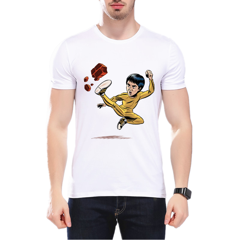 581854846 2018 New Summer Fashion Bruce Lee Printed T-shirt Cartoon Bruce Lee Design  Male Tops Funny MMA High Quality T Shirts L1C61