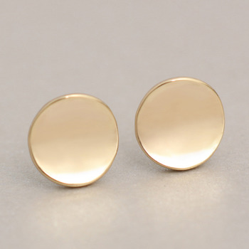 Shiny Geometric Round Stud Earrings