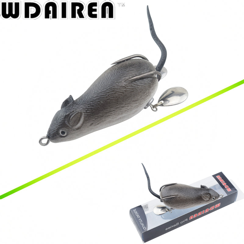 все цены на 1Pcs mouse Lure 7cm 17.5g Fishing Lures Treble Hooks Top water Ray Frog Artificial Crank Strong Artificial Soft Bait WD-454 онлайн