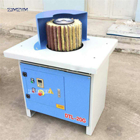 DTL 20G Woodworking Machinery Manual Vertical Brush Polishing Machine 300mm Brush roller diameter, 380V/50 Hz Bench Polisher