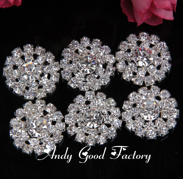 20mm Silver Strass Buttons Flatback Rhinestones Buttons Decorative Crystal  Button for Kids Hair Accessories 50 pcs lot PZ010 on Aliexpress.com  f2c2fbcf86a6
