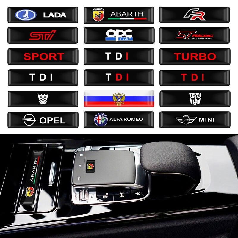 10pcs Car Styling Car Protective Bar Stickers Decorative Badge For LADA FR KIA STI OPC ST SPORT ABARTH TURBO TDI OPEL BMW MINI