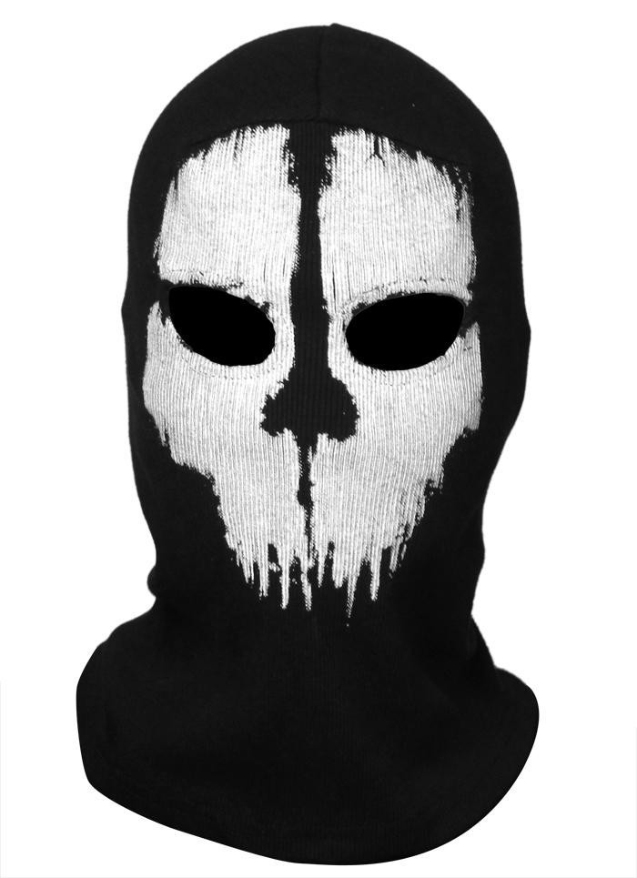 Cod Ghost Balaclava Logan Skull Face Mask Hood Biker Anonymous Mask