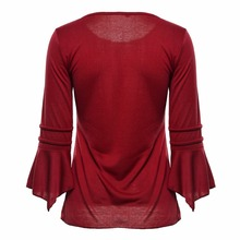V Neck Loose Korean Shirt for Women