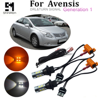 Shinman led WY21W 7440 T20 DRL Daytime Running Light& Front Turn Signals all in one car led light fit for Toyota Avensis