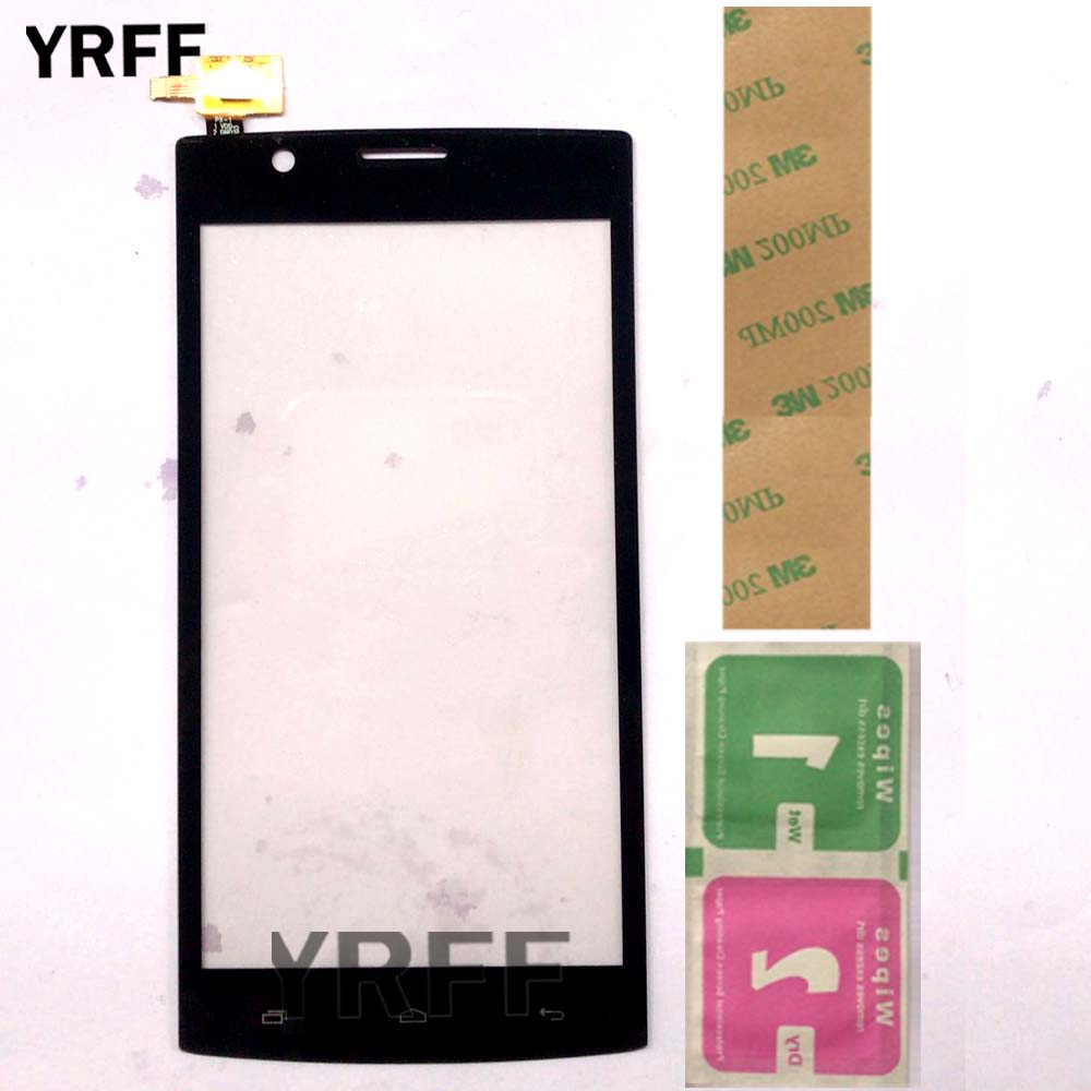 Mobile Touch Screen For Fly FS501 Nimbus 3 FS 501 Touch Screen Lens Sensor Digitizer Panel Front Glass Phone Replacement Wipes