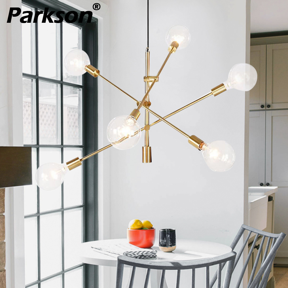 Suspension moderne lampe suspension nordique E27 noir or LED lampe suspendue suspension plafond suspension