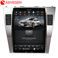Asvegen 10,4 ''вертикальный сенсорный экран автомобильный DVD для Toyota Camry 2007 2009 7,1 Android 2008 аудио стерео радио мультимедийный плеер
