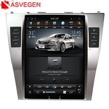 Asvegen 10,4 »вертикальный Сенсорный экран автомобильный DVD для Toyota Camry 2007 2008 2009 Android 6,0 аудио стерео радио мультимедийный плеер