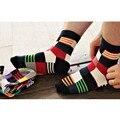 6 pairs = 1 лот Новое прибытие марка дизайн многоцветный мужские носки повседневная длинные носки Бесплатная Доставка