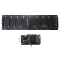 Добыча доска DDR3 памяти M.2 SSD SATA RJ45 сети Поддержка HDMI HD Выход плата Поддержка 8 PCIE Графика карты