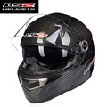 2016 new & hot cascos moto Ls2 ff396 carbon fiber full face motorcycle helmet dual visor airbags pump capacete de motociclistas