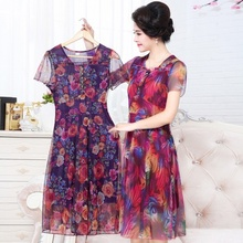 Summer dresses for older women dresses middle aged women 2016 new arrival floral middle age dresses dress older women   AA935