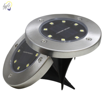 4pcs Solar Powered Ground Light Waterproof Garden Pathway Deck Lights With 4/8/12/16 LED Lamp for Home Yard Driveway Lawn Road