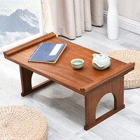 الكورية مائدة الطعام للطي طاولة الشاي أثاث غرفة المعيشة العتيقة طوي التصميم التقليدي الشرقية المستطيل طاولة خشب