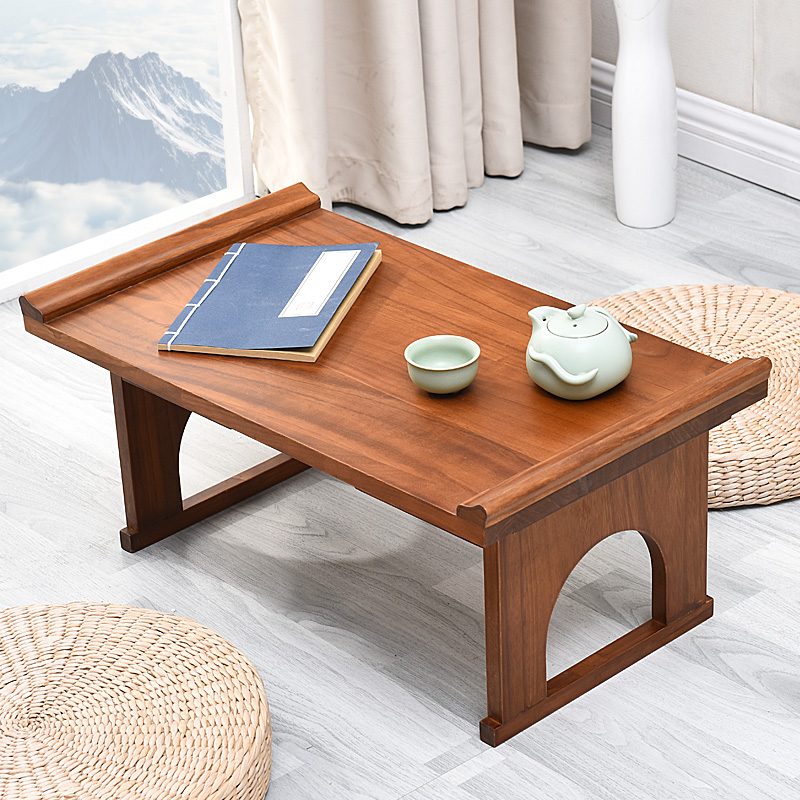 Korean Dining Table Folding Living Room Furniture Antique Foldable Tea Table Traditional Oriental Design Rectangle Wood Table solid pine wood folding round table 90cm natural cherry finish living room furniture modern large low round coffee table design