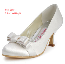2016 Ivory Popular Formal Shoes Round Toe Satin Bridal Shoes Wedding Dress Shoes Woman Formal Dress Shoes