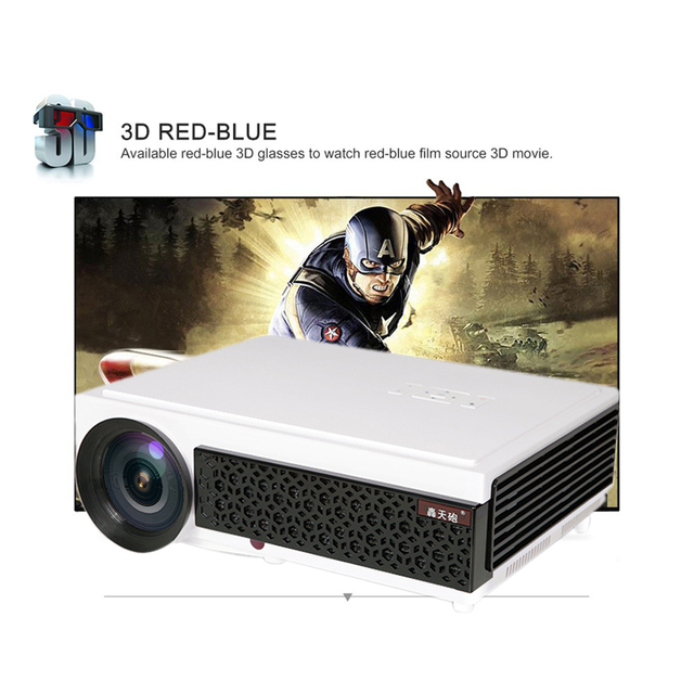 LED96+  LED96+wifi 4.4 Android smart 2500 Lumens 1280*800 Full HD 1080p 3D LED Home Projector Support HDMI USB TV