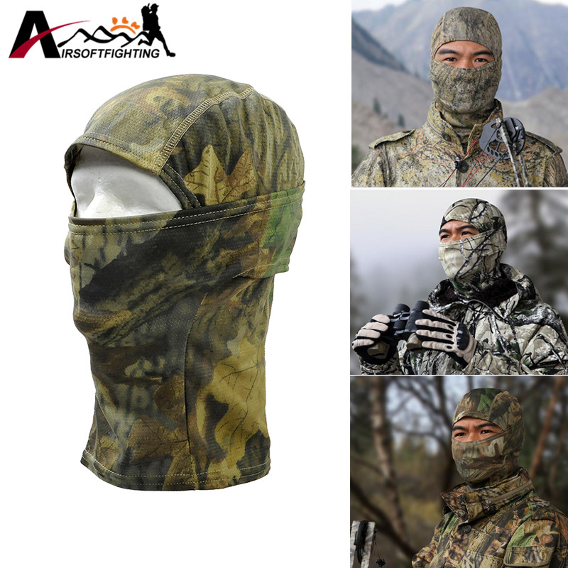 Breathable Chiefs Rattlesnake Full Face Mask Tactical Hunting Camo Balaclava Under Helmet Cap Winter Neck Warm Cover Headgear 2016 promotion winter hat warm outdoor sport visor sun high quality cap with ears casquette motorcycle mask balaclava headgear