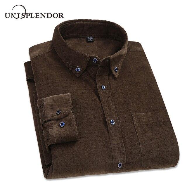 2019 100% القطن الرجال قميص ربيع الخريف ملابس للرجال الصلبة لينة سروال قصير رجل قمصان رشاقته حجم كبير الذكور قميص YN10416