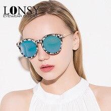 LONSY Nueva Moda de Gran Tamaño gafas de Sol Redondas Mujeres Diseñador de la Marca Gafas de Sol de Lujo de Las Señoras de Conducción gafas de sol mujer CC1675