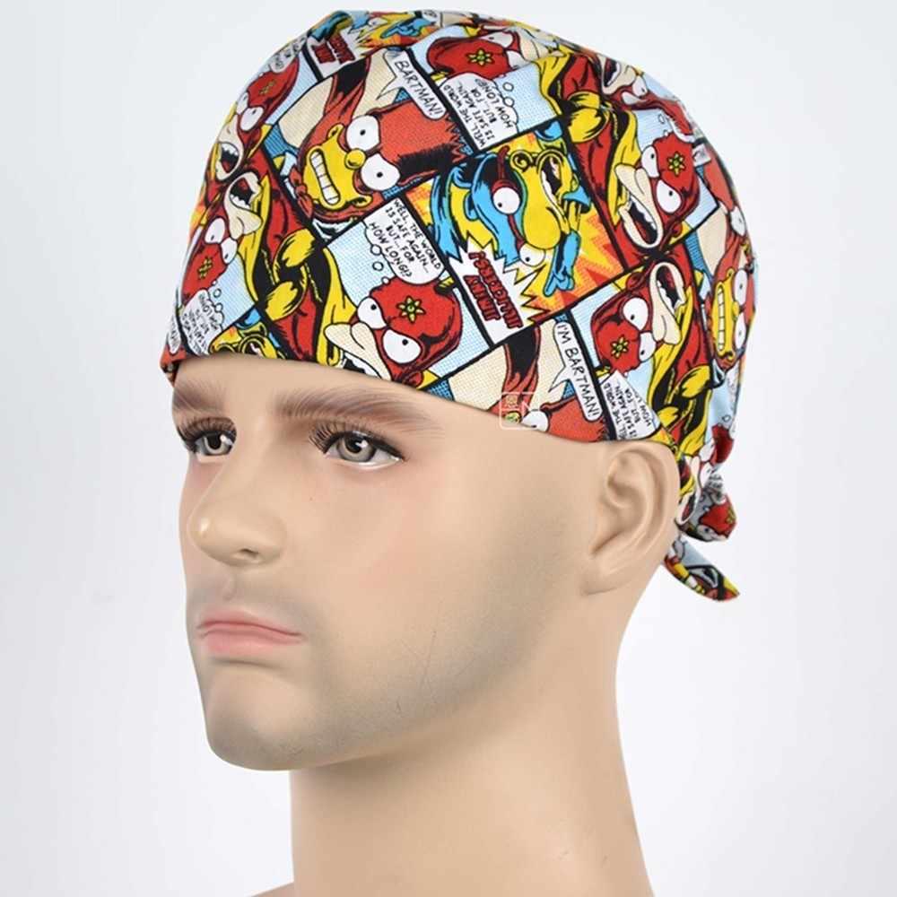 Nowy Cartoon lekarz oddychająca wysokiej jakości fajne szpital dentysta medyczne czapki Scrubs kosmetyczne chirurgiczne kapelusz pielęgniarka Unisex Sinpson