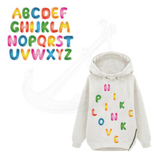 26 letters/combo Patch 4*5cm ChildrenT-shirt Sweater DIY Accessory A-level Washable Iron-on Transfers Heat Press Appliqued