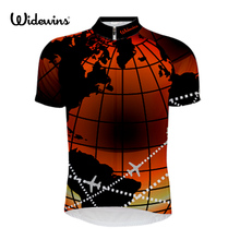 цена на style cycling jerseys summer short sleeve bike wear red white black jersey road jersey cycling clothing BBC Earthflight 7108