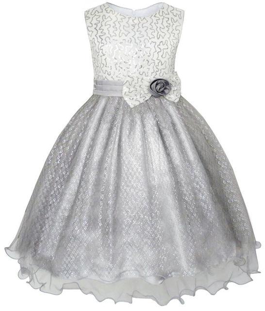 Sunny Fashion платья для девочек блеск Цехин Свадьба Подружка невесты Карнавальное шествие