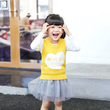 Toddler Girls Skirt Set Infant Baby Girls Clothes Set Cartoon Knitted Vest+Tops +Tutu Skirt Spring New Style Skirt Outfits Set 2pcs set baby toddler winter set cartoon wool knitting hat scarf warm set infant toddler girls boy knitted keep warm clothes set