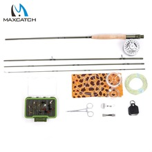 Maximumcatch Fly Rod 9ft 5wt 4pc ALC5/6wt Fly Reel WF 5F Fly Line And Accessory Fishing Combo