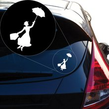 Graphics Mary Poppins Decal Sticker for Car Window, Laptop, Motorcycle, Walls, Mirror and More. SKU: 497 (4 Height, White) цена