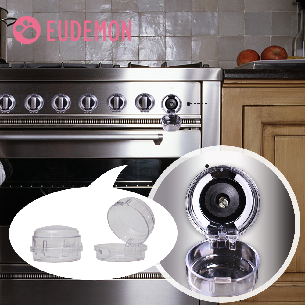 5Pcs Universal Kitchen Stove Knob Covers Protection Locks Clear for Child Safety
