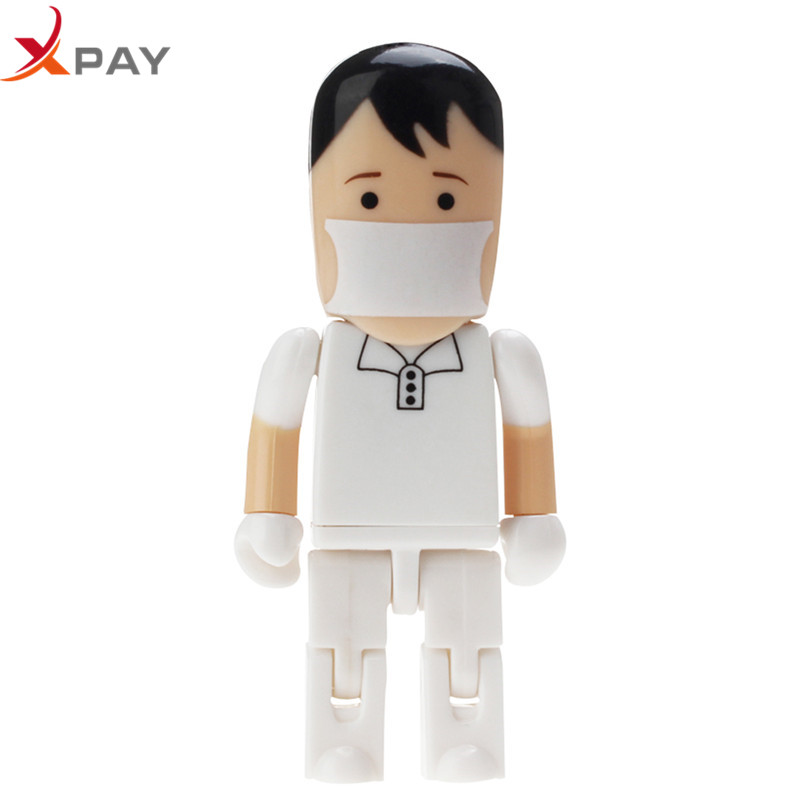 Image 3 - USB 2.0 PenDrive 128GB high quality 32GB Nurse USB Flash Drive 64GB for gift portable Pen Drive dentist plastic Storage u disk-in USB Flash Drives from Computer & Office