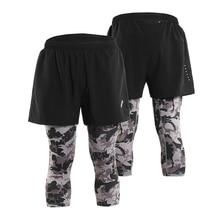 Arsuexo Mens 2 in 1 Running Shorts Training Marathon Quick Dry Fitness Gym Workout Leggings Baseball Pants