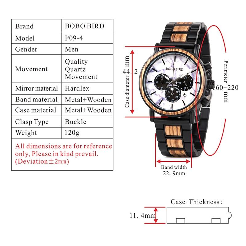 Drewniany zegarek Bobo Bird Marble P09-4