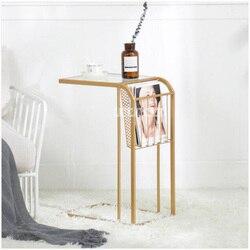 Nowy kreatywny Nordic Mini stolik wysokiej jakości nowoczesny minimalistyczny dom sypialnia mały stół żelaza sztuki stolik nocny gorąca sprzedaży