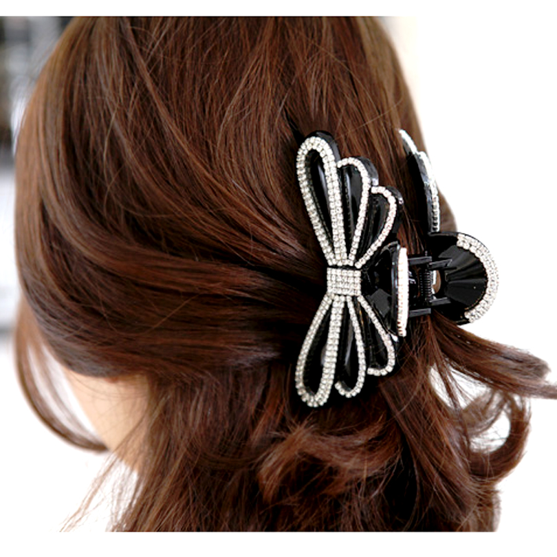 Hair Clip,Lady Large Hair Clamp for Thick hair,Ponytail Holder Jaw Clip Secure Grip Claw Stying,Beauty Bow-knot Hair Accessories for Women Girls 4