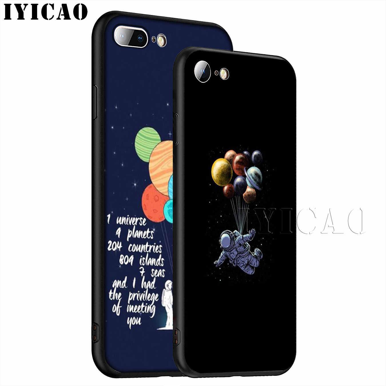 رائد الفضاء الكواكب نجوم كوزموس أفضل لينة سيليكون الهاتف حقيبة لهاتف أي فون XR X XS 11 برو ماكس 6 6S 7 8 Plus 5 5s SE 10 غطاء