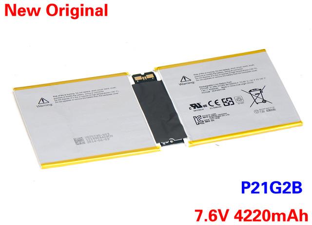 Genuino del nuevo ordenador portátil de la batería P21G2B para SAMSUNG Microsoft Surface RT 2 II RT2 Tablet P21G2B 7.6 V 4220 mAh envío 2 Yeas garantía