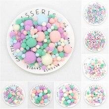 Mini pompón mezclado suave redondo Pompones bolas esponjosas pompón para niños DIY ropa manualidades suministros 8/10 /15/20/25/30mm