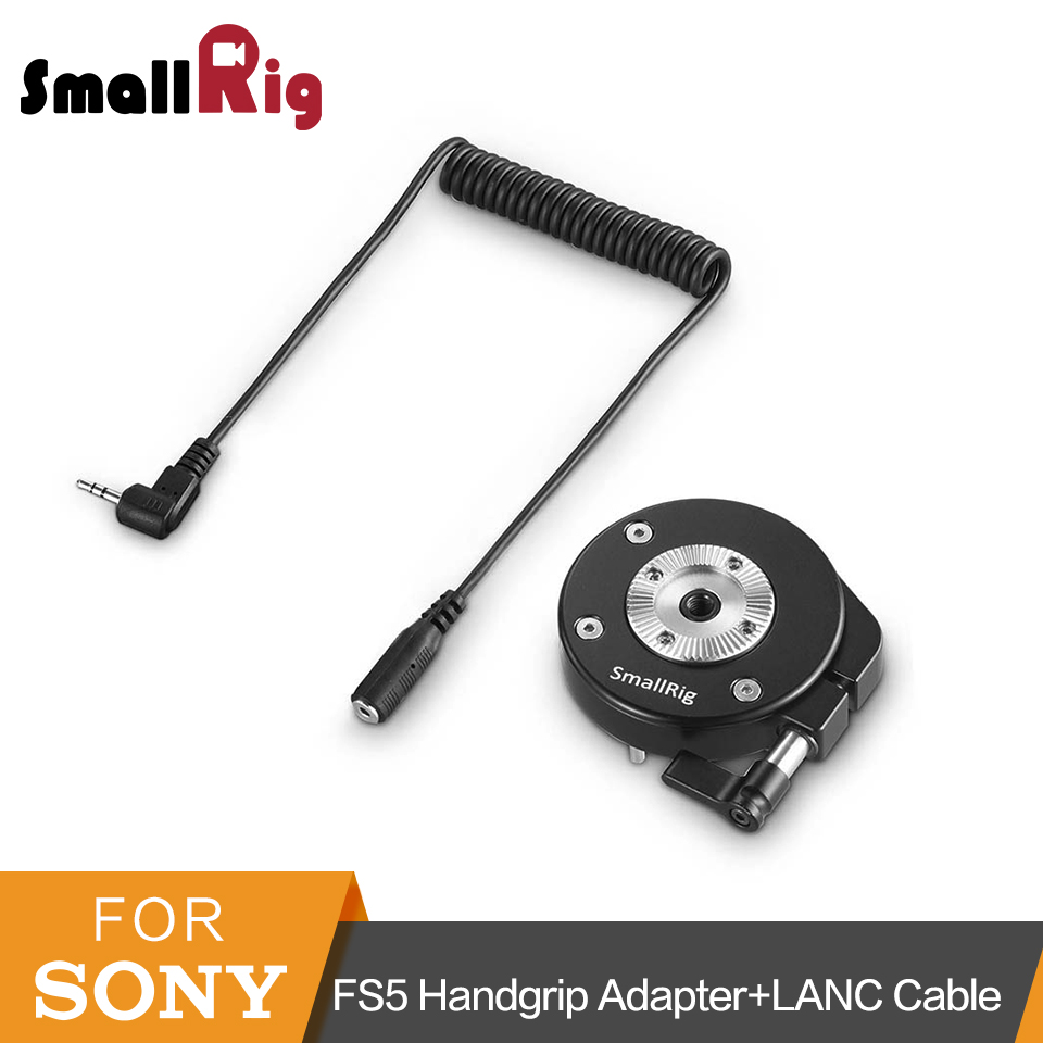SmallRig For Sony FS5 Handgrip Adapter with ARRI Rosette+2.5mm LANC Extension Cable For Extension Arm Quick Release Mount - 2192